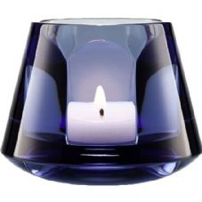 Baccarat Harcourt Baby Our Fire Blue Tealight Holder
